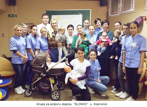 Grupa za potporu dojenju  SLONIĆI  u  Koprivnici