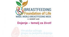 28. Međunarodni tjedan dojenja: Dojenje – temelj za život!