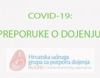 COVID-19: PREPORUKE O DOJENJU