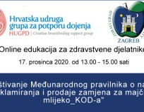 Online edukacija za zdravstvene djelatnike o poštivanju KOD-a